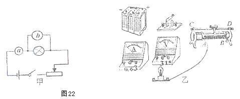 初中物理有关滑动变阻器的电路图