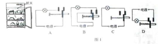 如图2是一个自动控制电路,当开关s闭合时,电路中各用电器的工作情况是