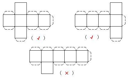 4个棱长为50厘米的正方体纸箱放在墙角处,有9个面露在图片