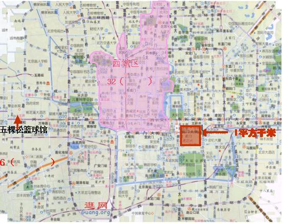 出示北京市地图.