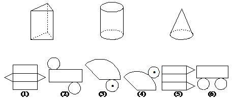 无论是哪种形式的表面展开图,只要能将其围成一个相应的立体图形,它就图片