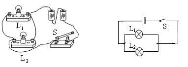 并联电路实物连接_解答过程: 先判断出实物图是并联电路,干路中有电源和开关 ...