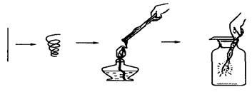 细铁丝在氧气中燃烧_( 1 )选用的铁丝应用 进行处理。