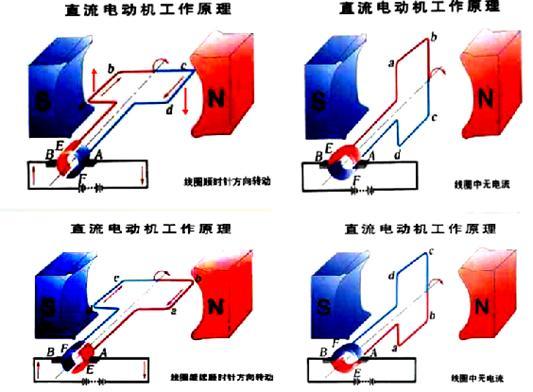 制作了一台简易电动机,他用回形针做成两个支架,分别与电池的两极相连