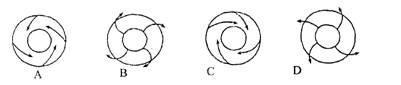 图中序号所代表的气压带或风带正确的是(    ) a.图片
