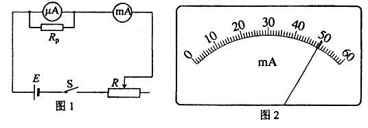 图1是改装并校准电流表的电路图,已知表头a的量程为ig=600内阻为rga