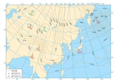 时世界海平面的气压分布图图片